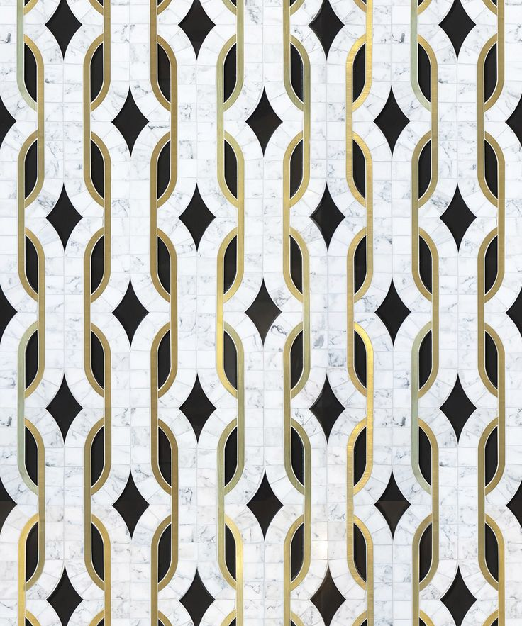 beautiful tiles - patterns accentuated by gold outlines - dundass-grande_image