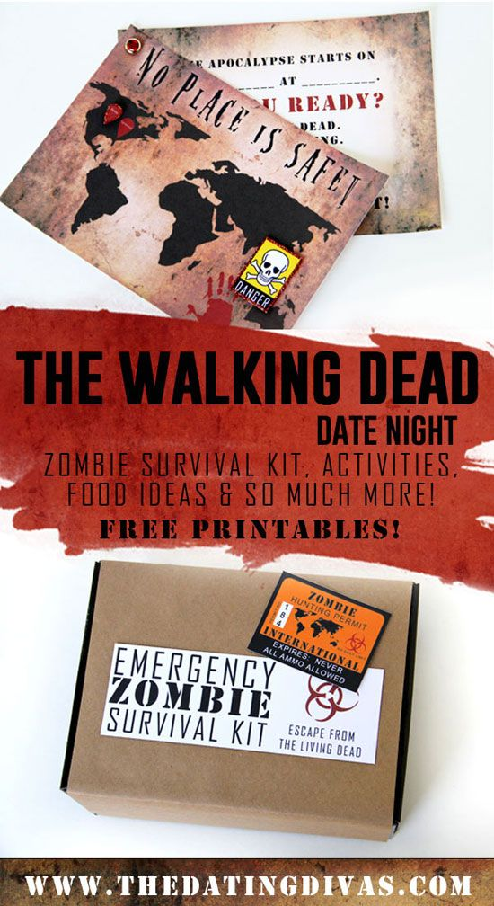 Awesome date night ideas for his favorite show The Walking Dead! www.TheDatingDivas.com