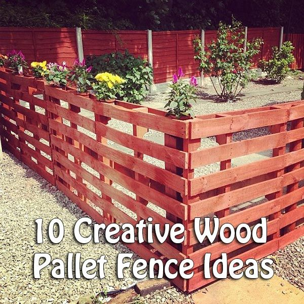 10 Creative Wood Pallet Fence Ideas If you are looking for cheap, but still aesthetic ways to build a new fence, you should try pallet fencing. Pallets are