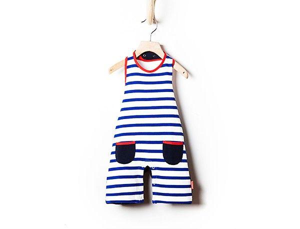 Woopeye abbigliamento per bambini, Neonato baby striped romper Bleu H. #blueh  http://www.woopeye.com/shop-1237-tutina-neonato-a-righe.html