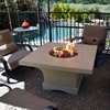 Mount Shasta Gas Chat Fire Pit Table | WoodlandDirect.com: Outdoor Fireplaces, Fire Pits - Gas, Fire Pit Tables