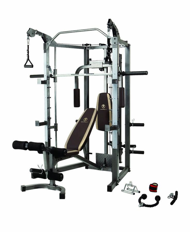 Marcy SM4008 Smith Machine w/ Attachments