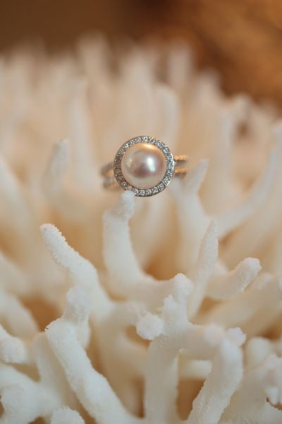 Unique pearl halo engagement ring: http://www.stylemepretty.com/collection/2013/