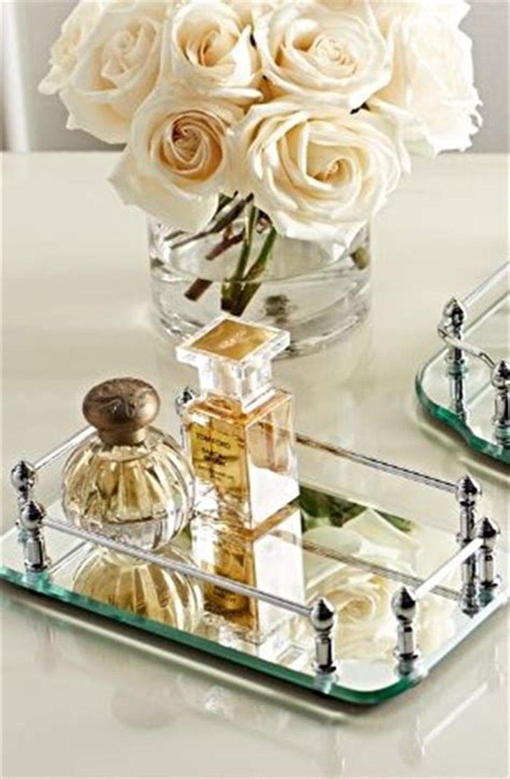 40 Beautiful Bathroom Vanity Tray Decor Ideas 30 (With
