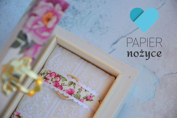 Pudełeczko na obrączki z motywem kwiatowym ♥
