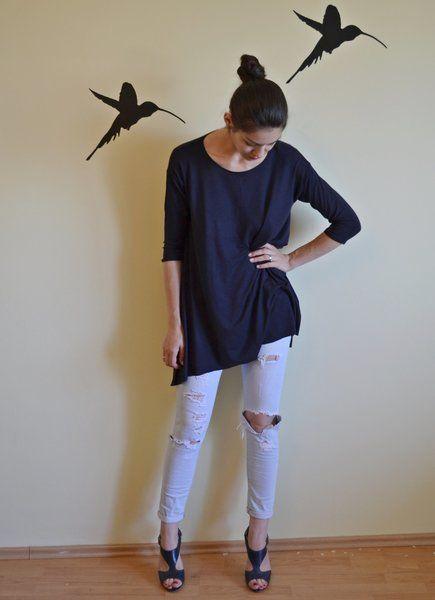 DARKBLUE MINI-DRESS from Monsari  by DaWanda.com