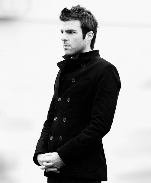 This isn't even a photoshoot, it's just Zachary Quinto standing around a set. TOO ATTRACTIVE.