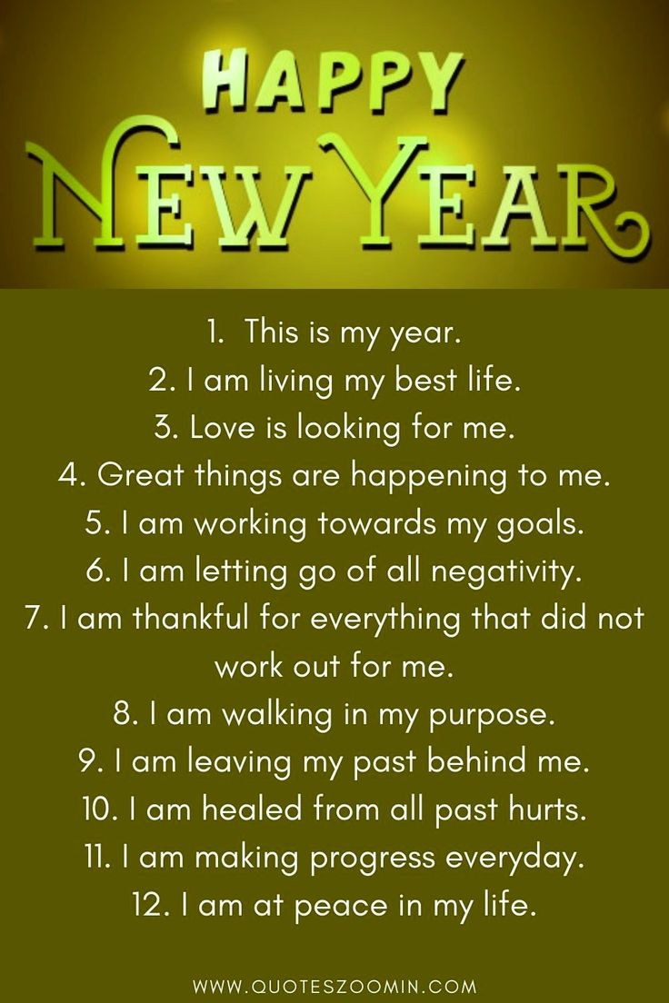 Happy new year 2021 affirmations mantra in 2020 Happy