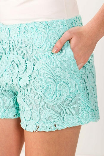 Would love a pair of black or white scalloped shorts for the summer.  I'd even love them in a pop of summery color like a fuchsia or a blue.