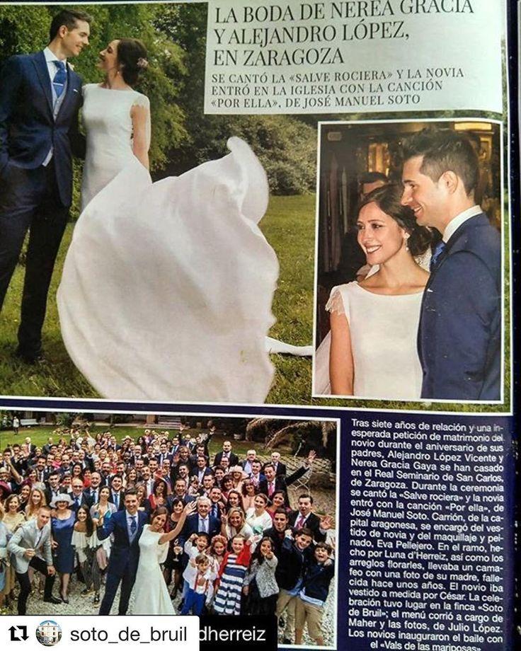Ver a Nerea en Hola, #noviaprincesa 2017, es lo más. 🔝 Gracias por confiar en mí para este día tan especial.♥️  #Repost @soto_de_bruil ・・・  ¡Esta preciosa boda celebrada en nuestra finca, no solo aparece publicada en la edición digital de @holacom, sino también en la tirada en papel de la #revistahola!  📸: Julio López 💇🏼: @evapellejero  💐: @floristeria_lunadherreiz 👰🏻: @carrionzaragoza  #hola #sotodebruil #instawedding #fincasbodas #fincasbonitas #fincaszaragoza #boda #bodasbonitas…