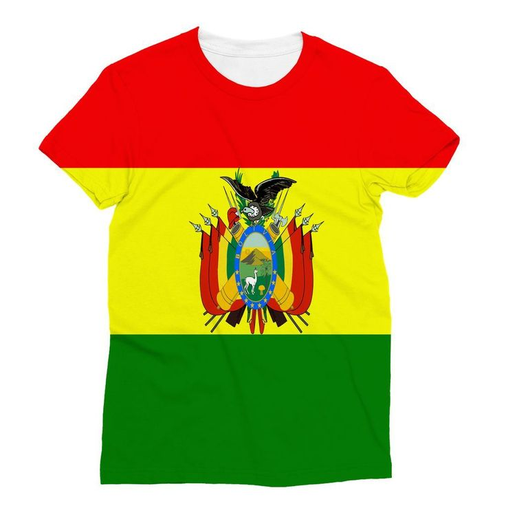 Flag of Bolivia Sublimation T-Shirt