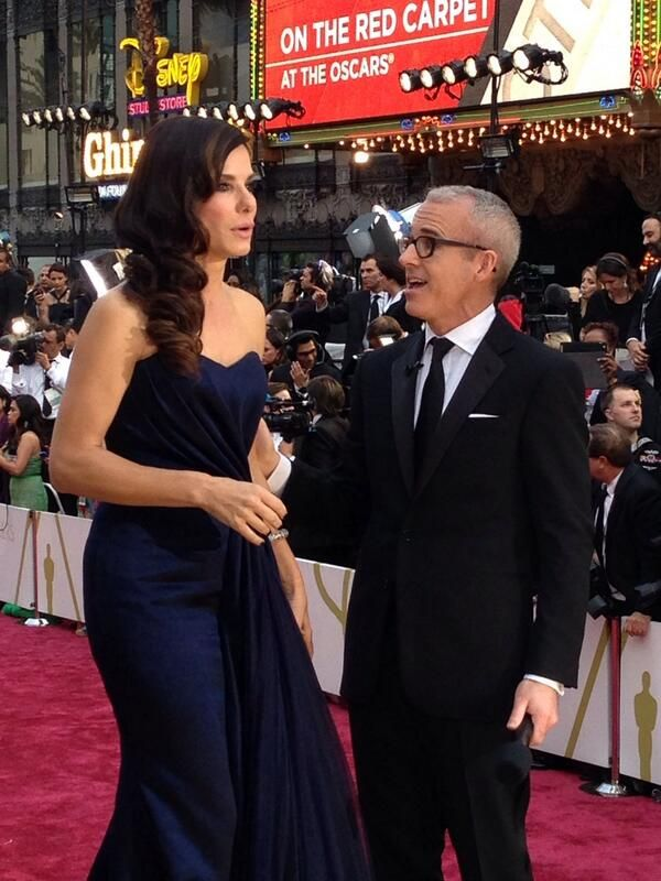 That's 1987 #Baylor grad Jess Cagle co-hosting the 2014 #Oscars Red Carpet show on ABC. #SicEm
