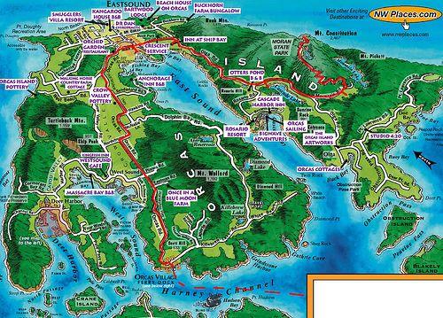 map of orcas island WA