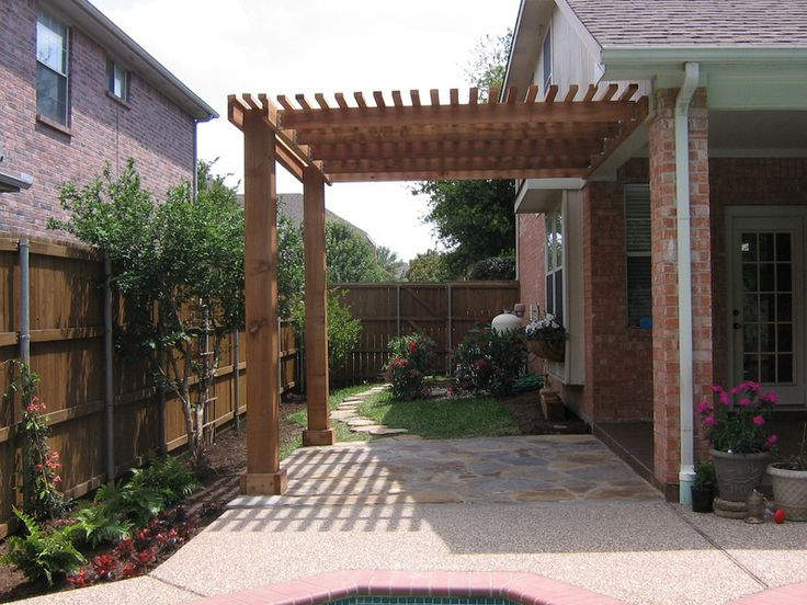 How To Build A Pergola Attached To The House Wood Projects Kids Plans  Download