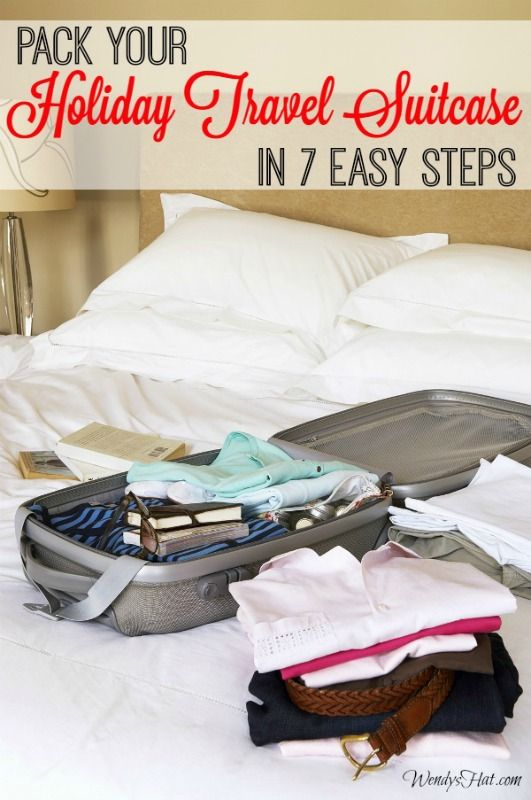 Learn How to Pack Your Holiday Travel Suitcase in 7 Easy Steps!