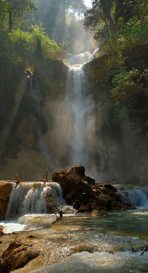 Tat Kuang Si Waterfall near Louan Phabang, Laos • photo: federico on TrekEarth