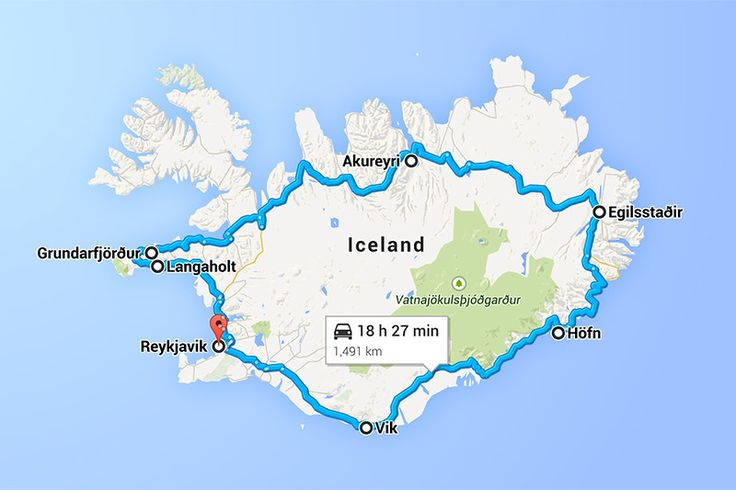 7-Day Ring Road Itinerary -- Map
