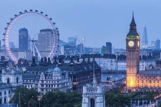 London      In the last several decades, the U.K. capital has updated its storybook profile of Big Ben and the Tower of London with gleaming glass high-rises and the giant London Eye Ferris wheel.