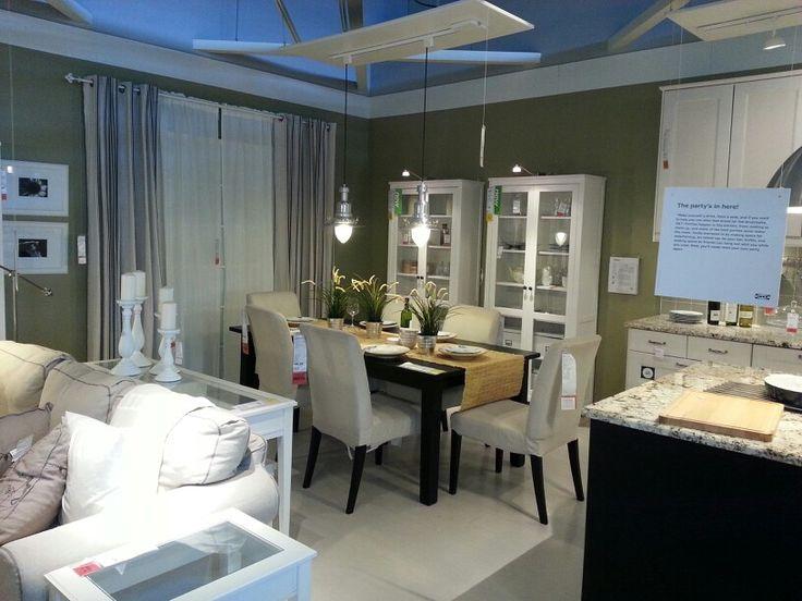 Divisi n de sala y comedor mueble blanco casa - Ikea planificador comedor ...