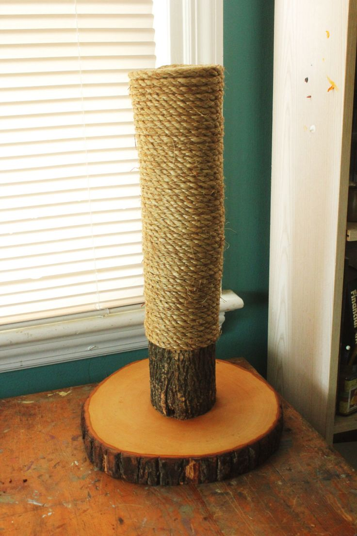 Handmade & Recycled Tree-Limb Cat Scratching Post - Rustic Cat Furniture by HagendorfOriginals on Etsy https://www.etsy.com/listing/266147551/handmade-recycled-tree-limb-cat