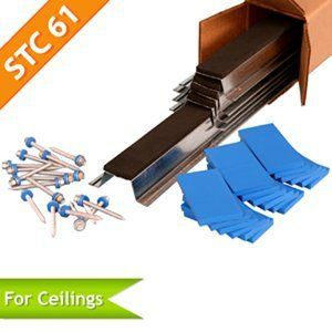 isoTRAX™ Soundproofing System Ceiling Package | Sound