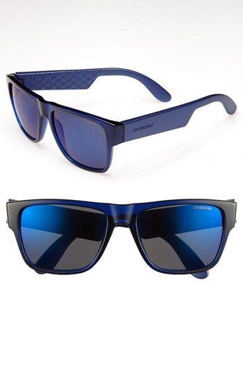 €87, Lunettes de soleil noir et bleu Carrera Eyewear. De Nordstrom. Cliquez ici pour plus d'informations: https://lookastic.com/men/shop_items/80846/redirect