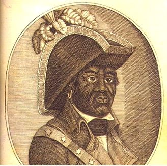 The Haitian Refugees and Mother Africa: Spanish General Georges Biassou. Engraving, Juan López Cancelada, 1806