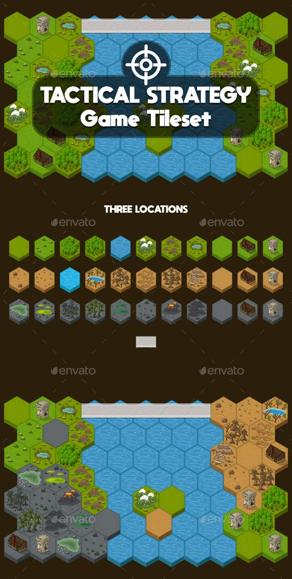 Strategy 2d Game Tileset Tilesets Game Assets Strategy