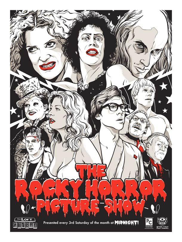 15 superbes posters de films cultes par Joshua Budich | Ufunk.net, rocky horror picture show