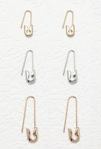 Safety Pin Earring Set | Forever 21 - 1000180650