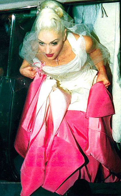 Never forgot this dress! Gwen Stefani and Gavin Rossdale in 2002. Dress lent by John Galliano.