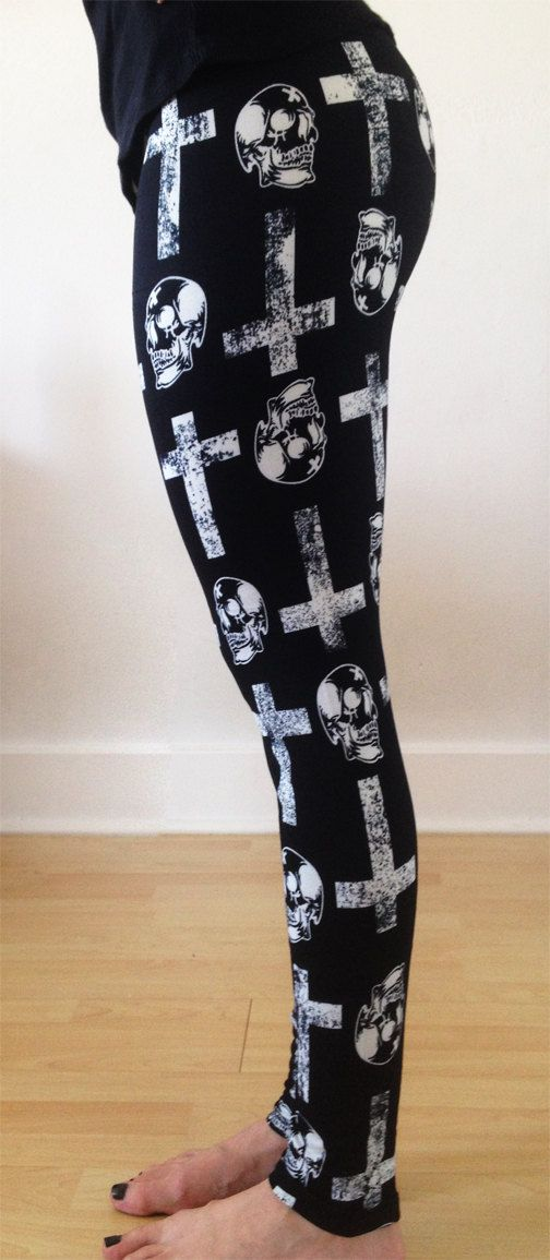 FREE Shipping !, Womens leggings,halloween Leggings, Yoga Leggings, Pattern Leggings, tribal  Leggings, skull leggings, cross leggings