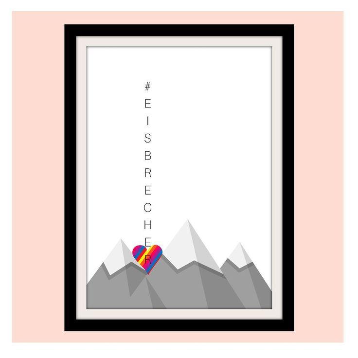 Eisbrecher #herzenswärme #deko #print #statement #artgemixt