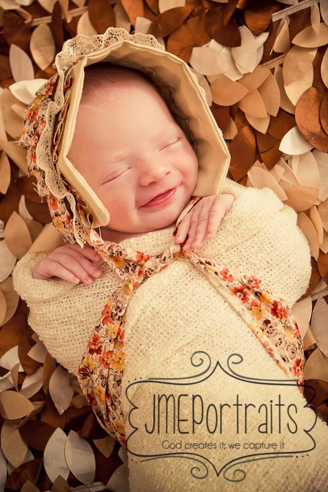 Baby bonnet fall bonnet beige bonnet newborn bonnet fabric bonnet baby girl bonnet photography prop thanksgiving