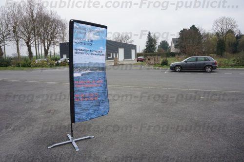 drapeau publicitaire marine équipement