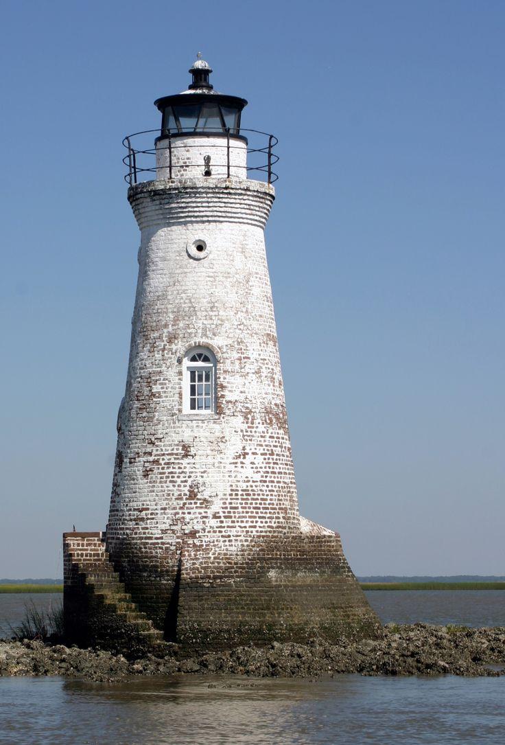 Cockspur Island Lighthouse, Tybee Island, Ga.  Survived the Civil War.