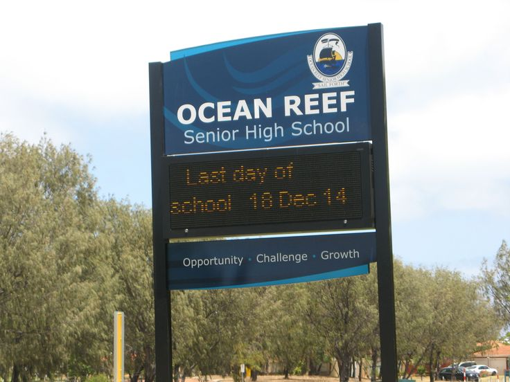 Ocean Reef Public School #CSI #LED #vector #signage #sign #market #school