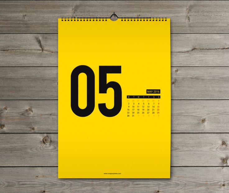 Corporate Wall Calendar Design Templates : Corporate wall calendar design template kw w b