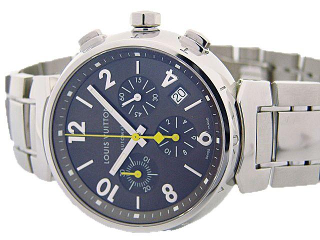 ルイヴィトン時計 タンブール クロノグラフ Q1121 ブラウン文字盤