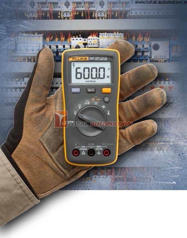 The Fluke 106 digital multimeter is made to fit the way you work! It is designed to fit in the palm of your hand and go with you no matter w...