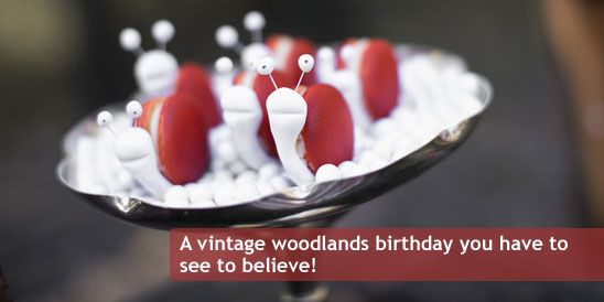 Red Riding Hood Vintage Woodlands Birthday Party featured again on Catch My Party!!
