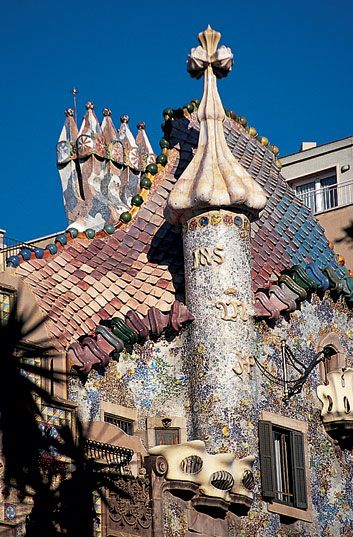 Gaudí ; casa Batlo (Barcelone)