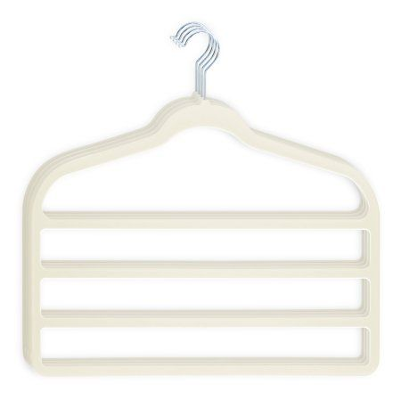 4 Pack Hangers for pants Bar Pants Velvet Hangers - Space Saving, Beige