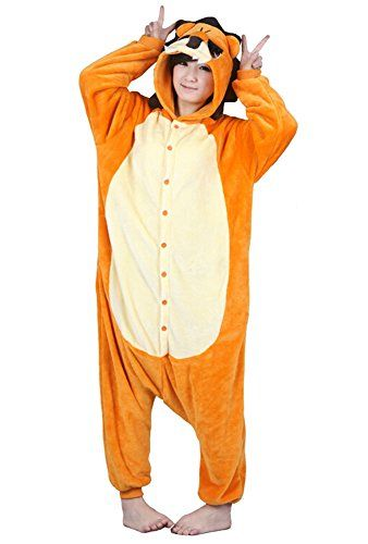 Tonwhar Unisex Adult Cartoon Lion Onesie Sleepsuit Kigurumi Halloween Costumes LHeight170cm557180cm59 Male lion ** Check out the image by visiting the link.