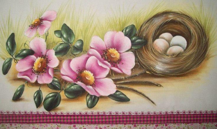 Flores com ninho via @AcrilexBrasil
