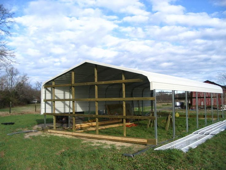 how to use a carport as chicken coop/small barn.