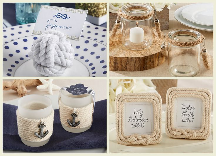 Nautical Rope Wedding Party Favors from HotRef.com
