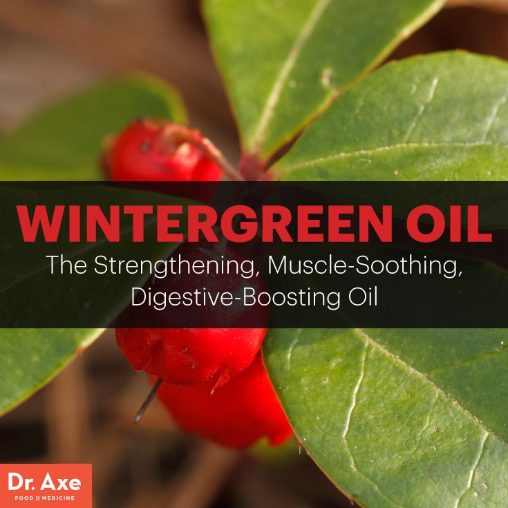 Wintergreen oil - Dr. Axe http://www.draxe.com #health #holistic #natural