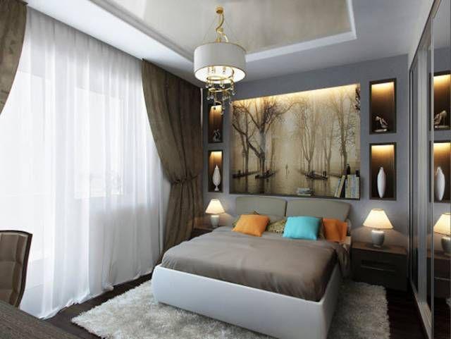 Интерьер спальни 9 кв м