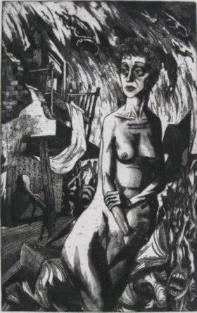 Women at War, 1942, etching, Harry Sternberg